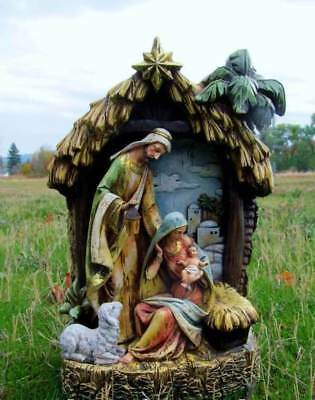 Holy Family Nativity Set Scene in Stable Creche 15 in Indoor Outdoor Yard Decor - Nativity Scene Sets Outdoor