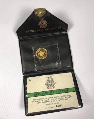 Republique De Guinee Guinea Republic 1970 JFK Gold 1000 Francs Coin