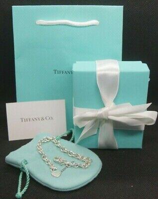 Tiffany & Co Armband mit Herz  - 925 Silber - Gr L - 19,5cm - Heart - Charm