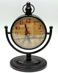 Quartz Paris Eiffel Tower Small 12 Wall Table Desk Clock HD-1688