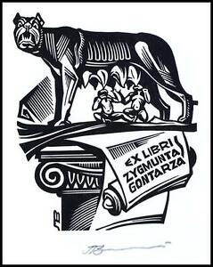 Leonenko Vasyl 2002 Exlibris X3 Mythology Romulus and Remus Wolf Lupus Rome 1013 - <span itemprop='availableAtOrFrom'>Dabrowa Bialostocka, Polska</span> - Leonenko Vasyl 2002 Exlibris X3 Mythology Romulus and Remus Wolf Lupus Rome 1013 - Dabrowa Bialostocka, Polska