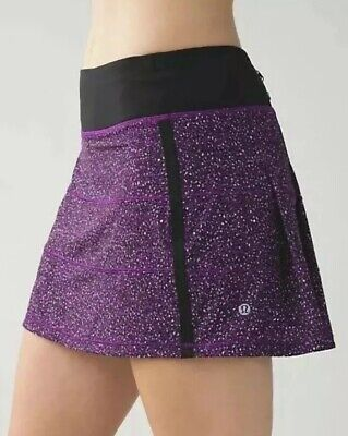 Lululemon 8 Tall Pace Rival Skirt - Flashback Static Powdered Rose Tender Violet