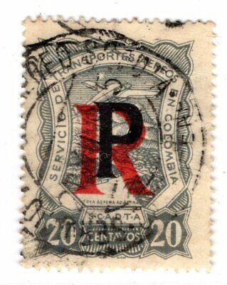 COLOMBIA - PANAMA - SCADTA CONSULAR 20c REGISTRATION STAMP - Sc CFLP3 - 1925 RR