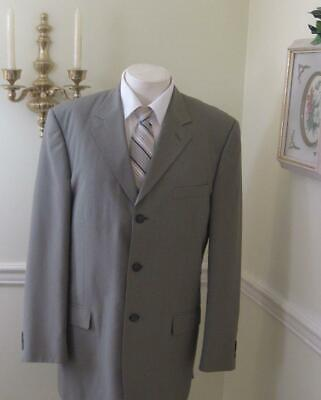 Mens~Suit~42L~METRO CLUB~Collection~3 Button~Pleated~34W X 30L~Taupe~Free Ship