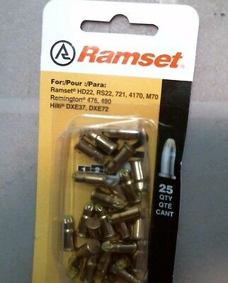 Ramset 22 Cal. Fastener 50077 Pack Of 25 Free Shipping