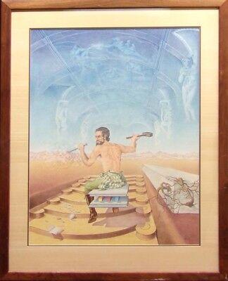 Robert Rigel Original Acrylic On Paper Hand Signed Make An Offer Figure