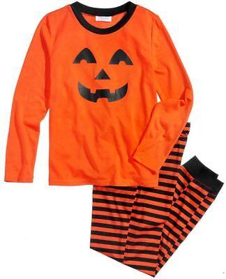 Macy's PJs Orange Halloween Lightweight 2 piece Pajamas Big Kids Teens sz 14/16