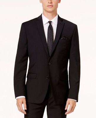 $351 Bar Iii Men Black Extra Slim Wool Suit Jacket Blazer Sports Coat Size 40 R