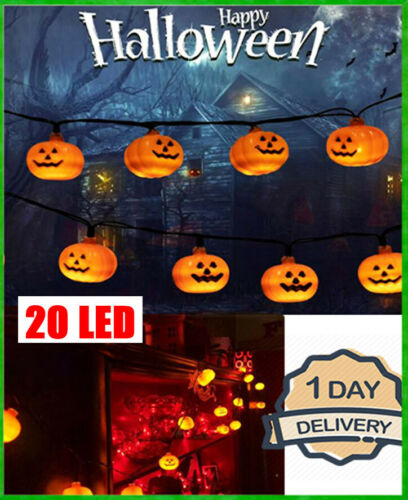 NEW HALLOWEEN Pumpkin String Lights Outdoor and Indoor Waterproof 2 Days Deliver