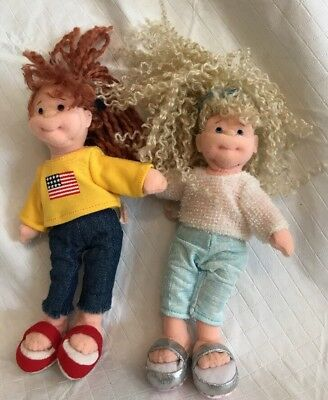 "2 Ty Ty Beanie Boppers Sassy Star & American Millie 7"" Tall Tush Tags Only 2002"