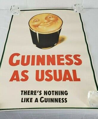 A Lovely Day Sun and Guinness Vintage Poster authentic john Gilroy 1941