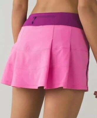 EUC🍀Lululemon 4 Tall Pace Rival Skirt II - Pink Paradise Regal Plum