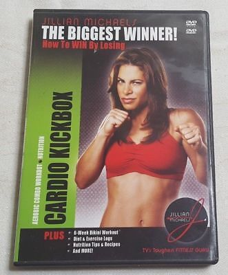 MINT!! Jillian Michaels The Biggest Winner CARDIO KICKBOX DVD 2005 Aerobic (Jillian Michaels The Biggest Winner Cardio Kickbox)
