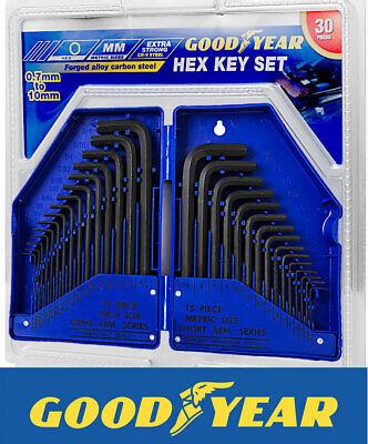 Goodyear Carbon Steel 30 Piece Hex Key Allen Alan Allan Key Set Kit Hard Case