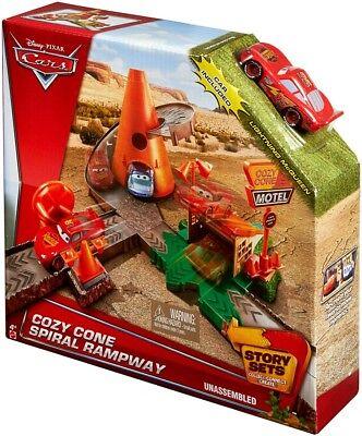 Disney / Pixar Cars Story Sets Cozy Cone Motel Spiral Rampway - Cdw Kids
