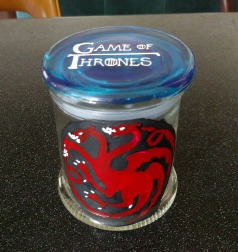 GAME OF THRONES GLASS JAR JELLY BEANS CANDY FAN ART