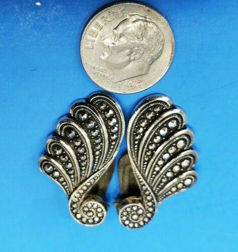Vintage Silver Tone Clip On Earrings West Germany @ trueblue0080 - N63