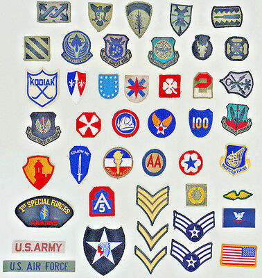 Great Lot of Vintage   WWII U.S. MILITARY PATCHES   Army  Air Force & More....