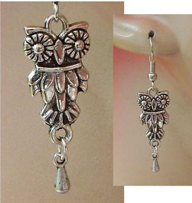 Owl Earrings Silver Ear Jewelry Women New Drop Dangle Charm Fashion Women Hook