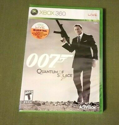 New in Box James Bond 007: Quantum of Solace Xbox 360 BRAND NEW & FACTORY SEALED