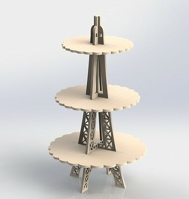 Eiffel Tower For Sweets Dxf Files Vectors Mdf Cnc Router Laser Plans Artcam 071