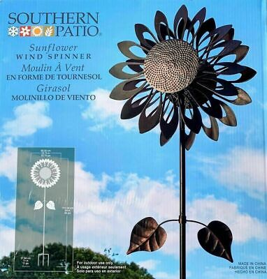 Southern Patio 6ft 11'' (213cm) Kinetic Sunflower Wind Spinner Garden Ornament