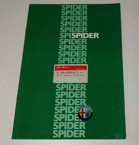 Alfa Romeo Spider Italian Sales Brochure