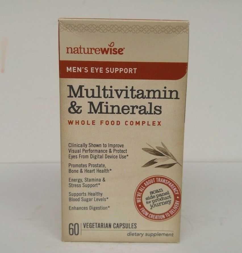 NatureWise Men's Eye Support Multivitamin for Men — Whole
