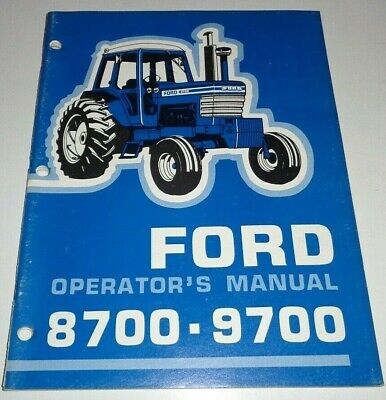 Ford 8700 9700 Tractor Operators Owners Manual Supplement Very Good Originals
