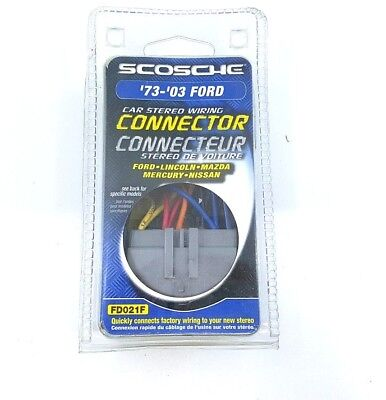 Scosche FD021F Car Stereo Install Connector Kit '73-'03 Ford - NEW™ Scosche Car Stereo Connectors