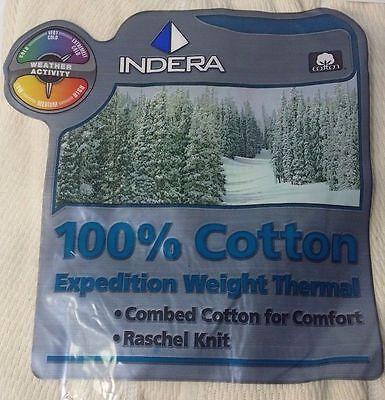 Indera Men Expedition Weight Cotton Raschel Knit Thermal Long Underwear Limited! Expedition Weight Long Underwear