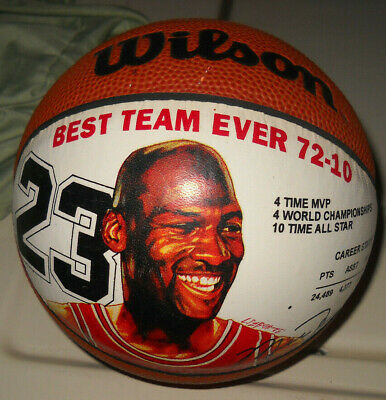 WILSON MICHAEL JORDAN BEST TEAM EVER MINI BASKETBALL CHICAGO