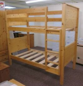 New hand made solid pine bunk beds single £199 price