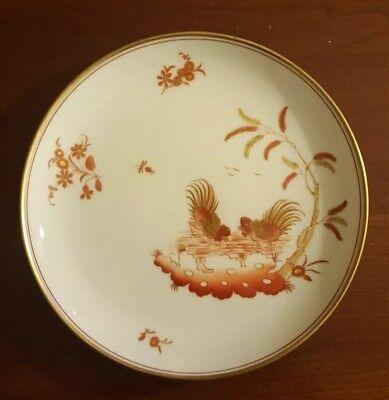 """Richard Ginori Siena Rust Chicken Rooster Gold Accent Fruit Dessert Sauce 7-3/8"""""""
