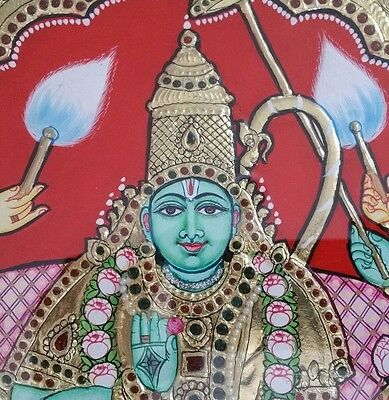 """Tanjore Thanjavur Painting w/ Frame Lord Rama 20""""x16"""" - Top Quality!"""