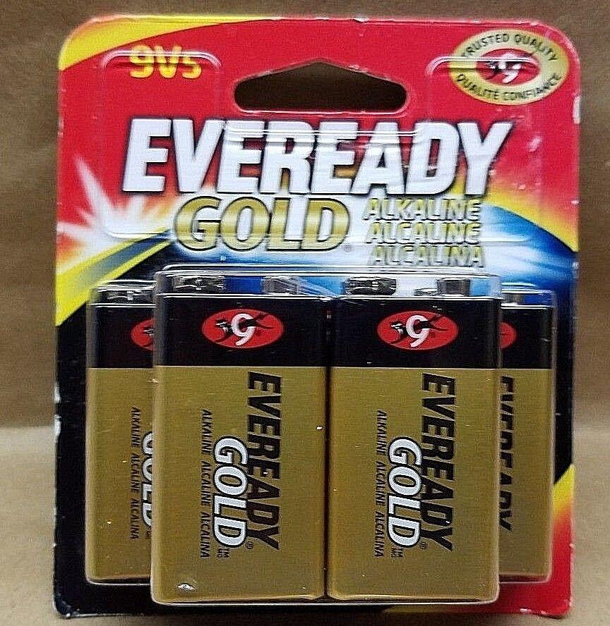 Eveready Gold Alkaline Batteries 9V 5/Pk
