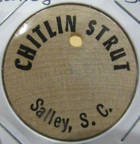 Vintage Chitlin Strut Salley, SC Wooden Nickel - Token South Carolina
