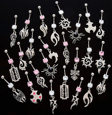 10pc Tribal Dangle Belly Rings Navel naval Wholesale Lot (B59)