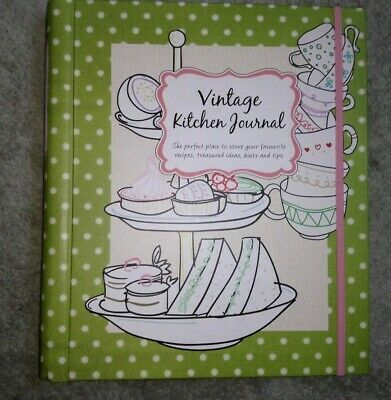 vintage kitchen journal  - a recipe organiser / notebook
