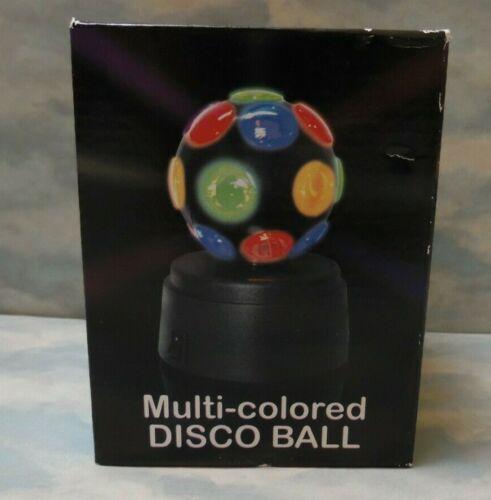Mini Party Disco Ball Novelty Light Battery Powered Decor Desk Top Multi-Colored