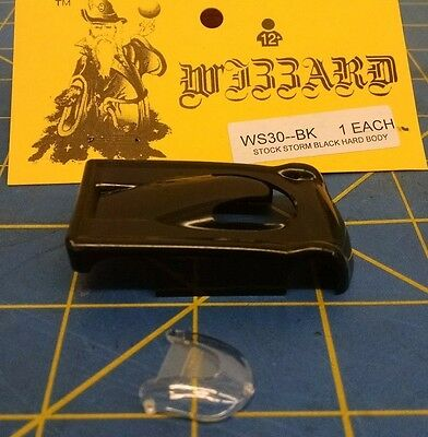 NEW Black WIZZARD STORM made in USA HO Slot Car Replacent Snap Fit Hard Body