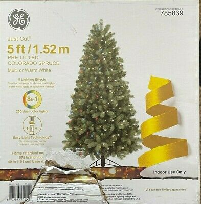 GE 5ft Colorado Spruce Christmas Tree 200 MultiFunction Color Changing LED Light