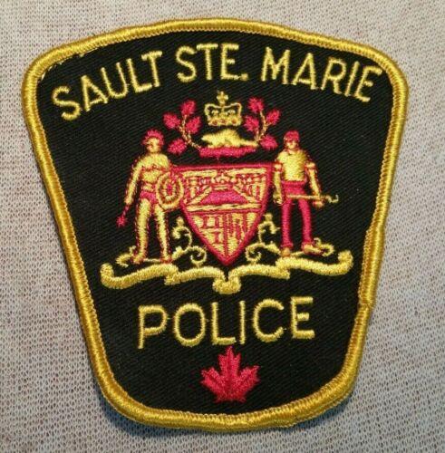 Ca Sault Sainte Marie Canada Police Patch