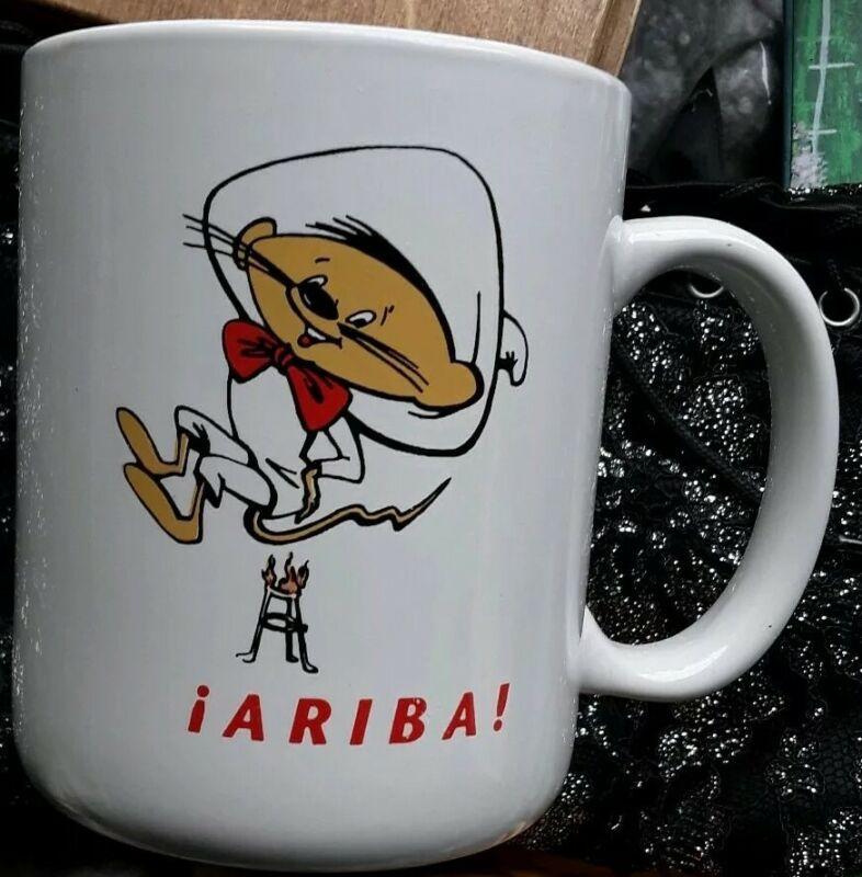 "Speedy Gonzales 4"" Coffee Mug ""Arriba""  Excellent Sitting on Fire"