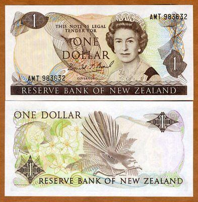 Купить New Zealand, $1, ND (1989-1992), P-169c, QEII, UNC