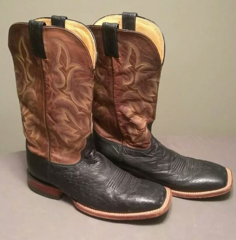 Justin, Boots, Mens, Brown, Full, Quill, Ostrich, Leather, , Cowboy, Boots, Size, 11.5, , EE
