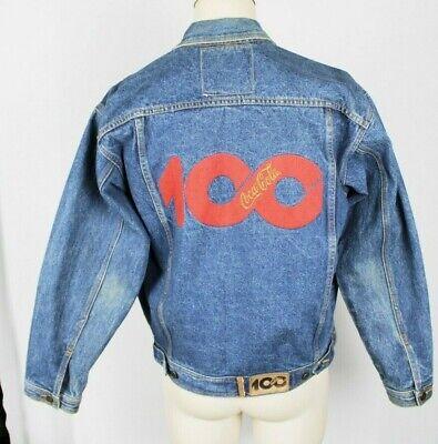 VTG 90s Coca Cola Clothes Coke 100 Trucker Denim Jean Jacket Mens Medium