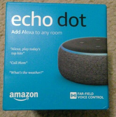 Amazon - Echo Dot (3rd Gen) - Smart Speaker with Alexa - Charcoal Black