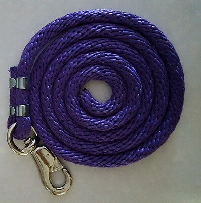 Poly nylon lead with bull snap purple - Lead Bull Snap