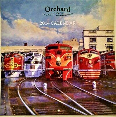 OSH Collectible 2014 Train Calendar
